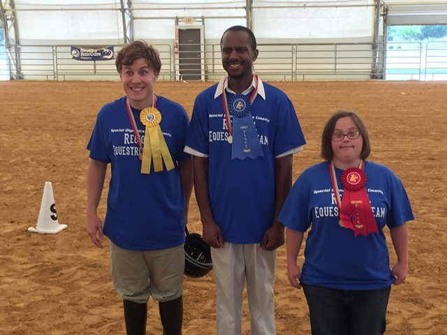 Dare Co. equestrians from left to right: William Marzano, Melvin Riddick & Caroline Parks